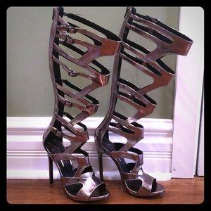 Steve Madden Women/'s Keyshia Cole KC FRNZY Caged Heel Sandals 6.5 7 8 9.5 10 new